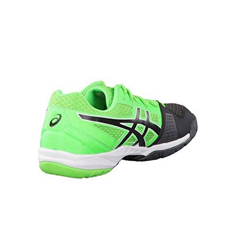 Asics Gel Blade 5, Chaussures de Handball Homme Noir-Vert