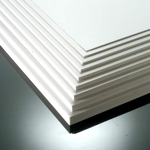 Foamex PVC-Hartschaumplatte 10mm, matt, Weiß, 13Größen zur Auswahl 297mm x 210mm / A4 weiß