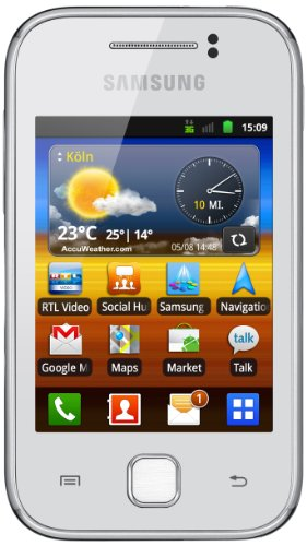 Samsung Mobile Samsung Galaxy Y S5360 Smartphone (7,62 cm (3 Zoll) Display, Touchscreen, 2 Megapixel Kamera, Android 2.3) pure-white