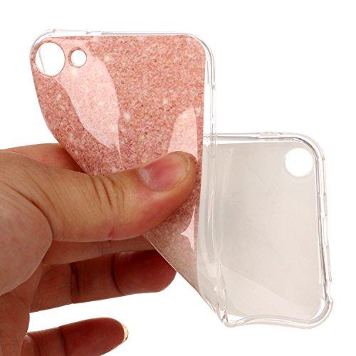 Custodia iPod Touch 5, ISAKEN Cover per Apple iPhone iPod Touch 5/6G [TPU Shock-Absorption] - Gradiente TPU sottile Glitter Bling Custodia Case Ultra Sottile TPU Morbido Protettiva Cassa Bumper - viol Rosa bianco