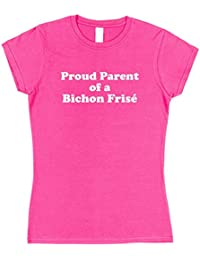 Click My Clobber Mens, T-Shirt, Proud Parent Of A Bichon Frise Dog