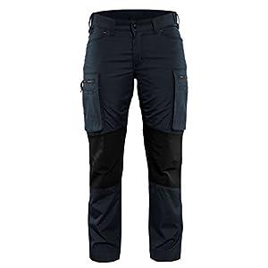 'blakläder Mujer Pantalones de trabajo de servicio»Stretch Tamaño C30en color azul oscuro/negro, 1pieza, 715918458699C30