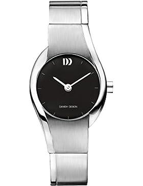 Danish Design Women'Herren Quarzuhr mit schwarzem Zifferblatt Analog-Anzeige und Grau-Armband Titan DZ120231