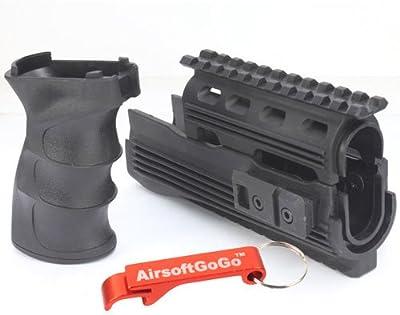 CYMA Riel Guardamanos y Tactical Empu?adura para Airsoft AK47 Serie AEG - AirsoftGoGo Llavero Incluido