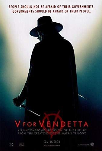 OWNG Unframed Canvas prit Poster V For Vendetta Silhouette Movie...