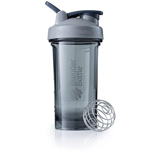 BlenderBottle Pro24 Tritan Protein Shaker | Wasserflasche | Sportflasche | Diät Shaker | 710ml - pebble