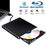 Tokenhigh Externe Graveur Lecteur CD DVD Blu Ray 3D, USB 3.0 Portable Ultra Slim de DVD CD-RW Bluray Lecteur de CD/DVD pour Mac OS, Windows 7 8 10, PC, iMac