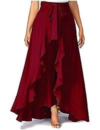 Generic Pooja Fashion Women's Solid ruffle palazzao Skirt