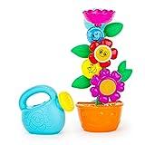 Leo & Emma Wasserrad Wasserspiel für Kinder Mehrfarbig - hochwertiges Kleinkindspielzeug - Spielzeug für die Badewanne - ab 9 Monate