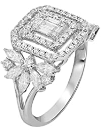 Talwar Jewellers 18KT White Gold And Solitaire Ring For Women