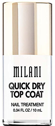Milani Color Statement Nail Lacquer, Quick Dry Top Coat, 0.34 Fluid Ounce by Milani - Milani Nail Lacquer