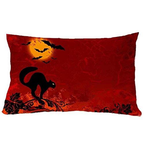 Bluestercool Kissenbezug, Halloween Halloween Quadratische Kissen decken Kissen Fall Kissenbezug Reißverschluss Schließung-11,8
