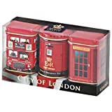 Exlusive englischen Tees - City of London, 3 x 25g Mini Dosen Tea Selection-Pack