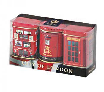 Exlusive englischen Tees – City of London, 3 x 25g Mini Dosen Tea Selection-Pack
