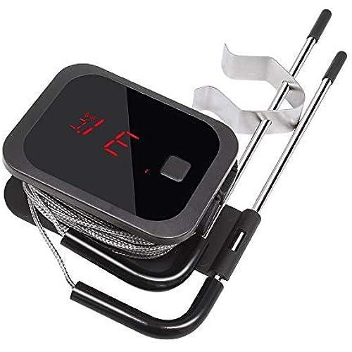 Inkbird IBT-2X Bluetooth Termometro Digitale Barbecue Termometro e Timer con Sonda di Temperatura per Carne Grigliate BBQ Fumatore Forno di Cottura 2 sensori