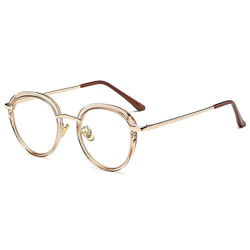Unisex-Sonnenbrille, Flacher Vintage-Rahmenspiegel, mehrfarbige Optionen (Color : PINK)