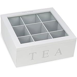 boîte de rangement COM Four® pour les sachets de thé et de thé, tertres de départ dans les versions différentes