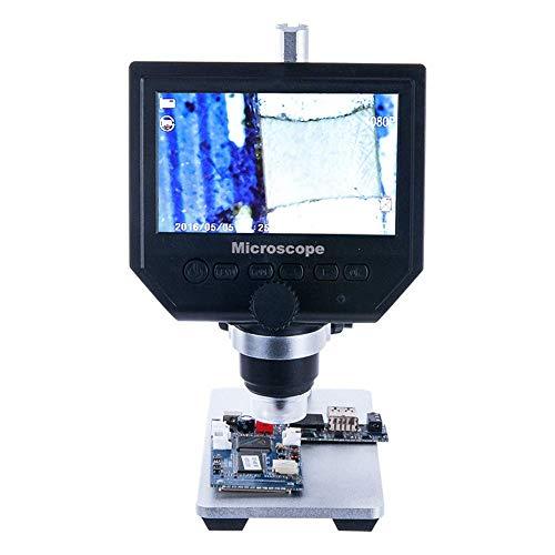 Bfangdj Visuelle 600 Mal Hd-Bildschirm Industriemikroskop Haarfollikel Elektronische Lupe Handy Motherboard Platine Reparatur Video Digitales Mikroskop Hautporen Kopfhautdetektor Lupe,B - Video-motherboard-reparatur