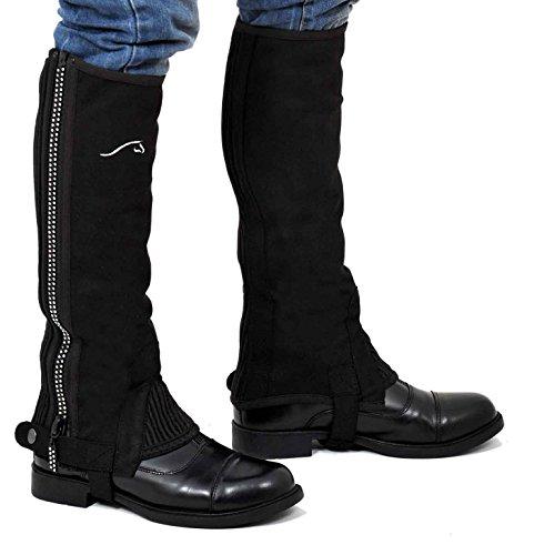 Riders Trend Amara Mini chaps avec fermetures Éclair à strass pour fille noir Noir xx-large