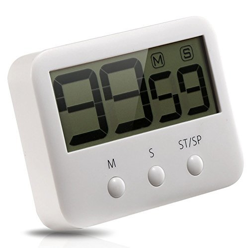 Metene Digital Kitchen Timer with Large LCD Display and Loud Alarm System by Metene