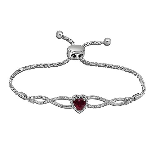 005-cttw-round-white-diamond-with-synthetic-heart-ruby-rhodium-over-925-sterling-silver-bolo-bracele