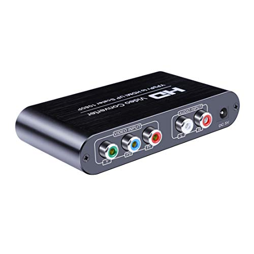 Scaler 1080P Full HD YPbPr Component Video und Stereo Audio R/L auf HDMI Konverter Upscale Adapter für DVD - Player, Olde Kamera, PSP, Xbox und Wii etc Hd-component-stereo