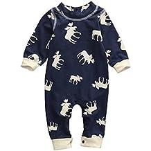 Mono Bebé, Amlaiworld Bebé niño niña de manga larga mameluco de ciervos mono pijamas trajes 0-24 Mes