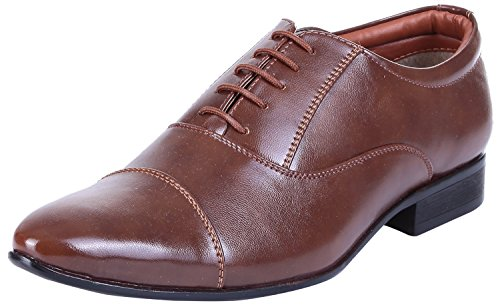Royal Kurta Tag 7 Men's Tan Synthetic Oxford Shoes 10 Tan