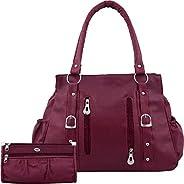 Bellina® Women's Handbag in Premium maroon color Shoulder bag and wallet for w