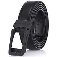 "Gallery Seven Leather RatchetBelt For Men - Adjustable Click Belt - Casual Dress Belt - Black - Style 18 - Adjustable from 28"" to 44"" Waist"