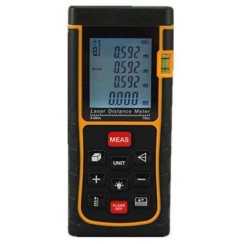 CHUANGQU 60 m Laser-Entfernungsmesser mit Wasserwaage, Measure Tool Electronic Measuring Tape - Tape Lcd