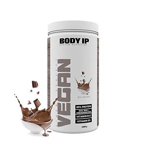 Perfect Whey Protein (BODY IP Simons Perfect Vegan Blend | Rich Chocolate | leckeres veganes Eiweiß ohne Soja | 1000g)