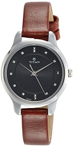Titan Ladies Neo-Ii Analog Black Dial Women's Watch-NK2481SL07