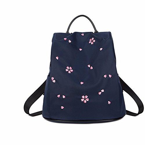 mit neuen burglarproof und freizeit tasche oxford leinwand lady rucksack,violet navy blue
