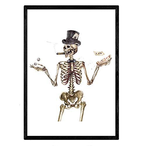 Nacnic Lámina Esqueleto adinerado. Posters con imágenes de...