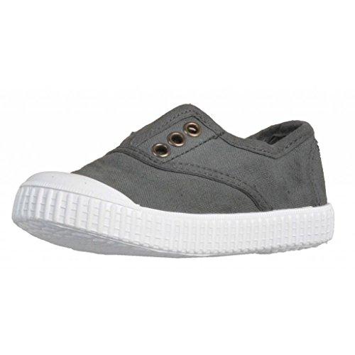 victoria Unisex-Kinder Inglesa Lona Tintada Punt Sneaker Grau