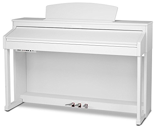 Steinmayer DP-380 WM Digitalpiano (88 Tasten, Holztasten, Hammermechanik, Triple-Sensor-System, LCD, Begleitautomatik, 2 Kopfhöreranschlüsse, 1 Mikrofonanschluss mit eigenen EQ-Einstellungen und Effekten, MP3 Player) weiß matt - 2