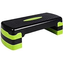 Ultrasport Planche de Step, Parfaite pour l'aérobic et Le Fitness, réglable en Hauteur à Trois Niveaux différents, avec Surface antidérapante