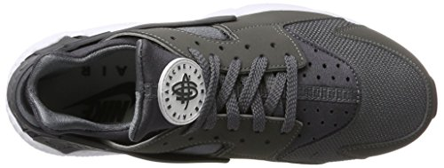 Nike Herren Air Huarahe Sneaker Grau (Dark Gre/Dark GRE-White-Black)