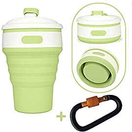 PROACC Silicone Collapsible Coffee Cup Food-Grade Folding Cup Climbing Buckle Outdoor Camping Hiking