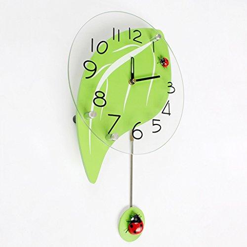 Sunjun Moderne Wohnzimmer Tischuhr Uhr Wanduhr hängen Tischuhr kreative minimalistisch stumm leuchtenden Gartenschaukel Cartoon