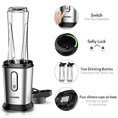 FOCHEA-Mixer-Smoothie-Maker-500W-Mini-Standmixer-Smoothie-Mixer-Multifunktion-Smoothiemaker-mit-Tritan-2-600ml-Travel-Sportflaschen-BPA-Free-fr-Shakes-und-Smoothies