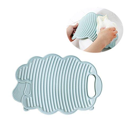 OUNONA Mini Lamm Waschmaschine Home Waschmaschine Schrubben Board Kinder Creative Kunststoff Wäsche Board Waschbrett (Pink) himmelblau/blau