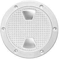 Chongyixian - Tapa de inspección Antideslizante para Barco Marino de 15 cm con Cubierta Desmontable, Color Blanco