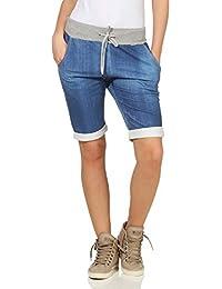 2cc725153a ZARMEXX Pantalones Cortos para Mujer Pantalones de Verano Boyfriend de  Bermudas de Capri - Estampado Completo