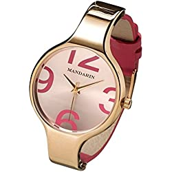 Mandarin Women's Watch Bracelet Watch Women Watch Leather Bracelet Leather Gold Bronzeallure