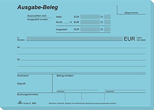 RNK 3022 - Ausgabe Beleg, Block mit 2 x 50 Blatt mit Durchschreibepapier, DIN A5 quer