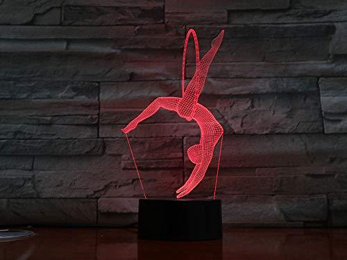 3D Illusion Lampe LED Nachtlicht Optische Tischlampe 7 Farben Berührungsschalter Fernbedienung USB-Kabel Nachtlampe dekoratives,Hula-Hoop-Reifen für Kinder Baby Boy Geburtstag Weihnachtsgeschenk