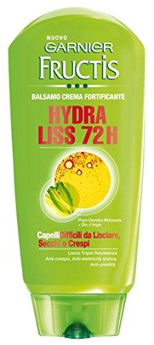 Garnier Fructis Hydra Liss 72H Balsamo Fortificante per Capelli da Lisciare Crespi o Secchi, 250 ml