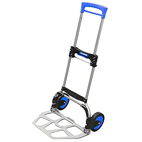 Toolmaster Aluminium Steel Folding 350 lb/159 kg Load Capacity Domestic/Commercial Heavy Lifting Hand Truck with Adjustable Soft Grip Handle